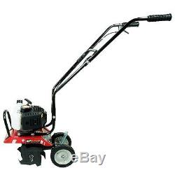 10in 43cc Gas 2Cycle Cultivator Garden Tiller Soil Hand Outdoor Power Equipment