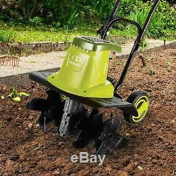 12-Amp Rototiller Electric Garden Tiller 16 Soil Cultivator Gardening Equipment