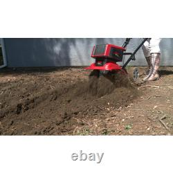 12 in. 9 Amp Corded Electric Tiller/Cultivator with 3-Position Wheels