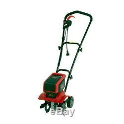 12 in. 9 Amp Corded Electric Tiller/Cultivator with 3-Position Wheels Mantis