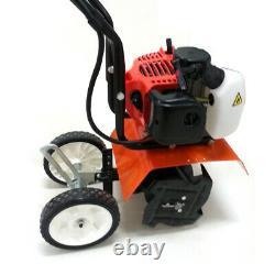 12inch 2HP 2-Stroke 52cc Gas Powered Mini Tiller Garden Engine Cultivator 1.2L