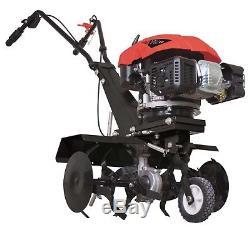 140cc 4 Stroke Petrol Garden Tiller Cultivator 560mm 6 Blades Scheppach Mtp560
