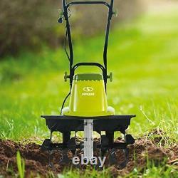 16-Inch 13.5 AMP Electric Garden Tiller Cultivator Handle Folds 3-Position Wheel