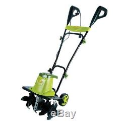 16-Inches Electric Tiller Cultivator Yard Lawn Digger Angled Tines Handle Folds
