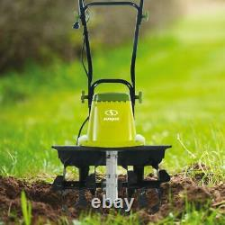 16 inch Electric Tiller Garden Cultivator with Wheels Corded Folding Handle Yard