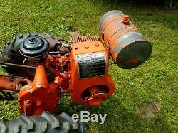 1950s Montgomery Ward garden tractor, Wards Power-Trac walkbehind cultivator