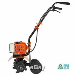 1.75hp 10 Gas Tiller Lawn Garden Cultivator 2-stroke Soil Aerator Yard 43cc