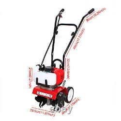 1.9KW 2Stroke 52cc Mini Garden Tiller Cultivator Gas Powered Farm Yard Lawn Tool