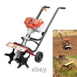 1.9KW 2Stroke Gas MiniTiller Soil Tilling Cultivator Plant Farm Garden Yard Tool
