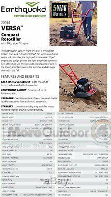 20015 Earthquake Versa Tiller Cultivator 99cc Viper Engine