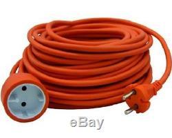 230v Electric Tiller Garden Cultivator Scheppach Mte450 + Extension Cable 20 Mt