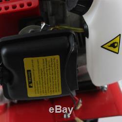 2Stroke Engine 52cc Garden Mini Tiller Petrol Power Soil Cultivator Tool 6500rpm