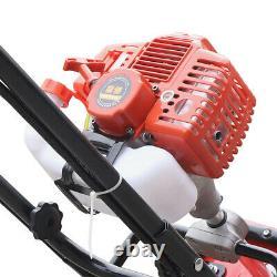 2-Stroke 52CC 1.9KW Petrol Gas Tiller Rototiller Cultivator Garden Tilling Tool