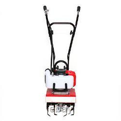2-Stroke 52CC Cultivator Tiller Gas Powered Garden Yard Rototiller Tilling Tool