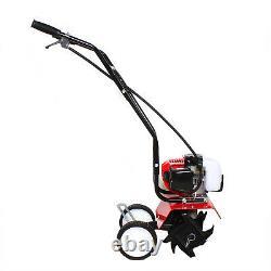 2-Stroke 52CC Gas Mini Cultivator Tiller Garden Yard Rototiller 6500-700r/min US
