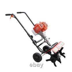 2 Stroke 52CC Petrol Gas Garden Tiller Rototiller Cultivator Tilling Tool