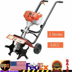2 Stroke 52CC Petrol Gas Garden Tiller Rototiller Cultivator Tilling Tool 1.9KW