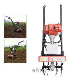 2 Stroke 52CC Petrol Gas Tiller Rototiller Cultivator Tilling Tool Garden 1.9kw