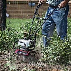 31452 New Earthquake Mac Mini Cultivator 33cc Flower Bed Garden 5 Yr Warranty