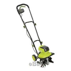 40V Cordless Electric Garden Tiller/Cultivator 12 Steel Angle Tines Fold Handle