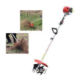 42.7CC Garden Tiller Cultivator Handheld 2 Stroke Gas Powered Engine Machine
