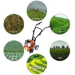 43CC Home Garden Gas Tiller Powered 2 Cycle Stroke Cultivator Walk Behind Grass