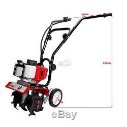 43CC Mini Tiller Cultivator Garden Yard Tilling Soil Gas Powered 2 Stroke Tool