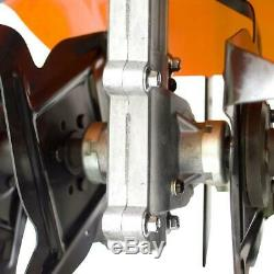43cc Gas Garden Tiller Rototiller Cultivator Yard Raised Bed Front Tine Tool