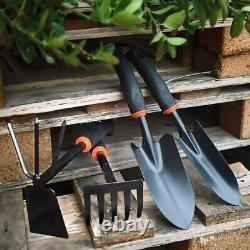 4pcs Garden Tools Set Trowel Rake Shovel Heavy Duty Metal Outdoor Ergonomic