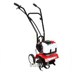52CC 2HP Gas Power Tiller Soil Work Cultivator Tilling Yard Garden Farm Machine