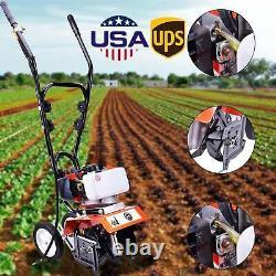 52CC 2Strok Soil Gas Mini Tiller Cultivator 6500rpm Plant Garden Tilling Tools