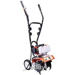 52CC 2Strok Soil Gas Mini Tiller Cultivator Plant Garden Tilling Tool 6500rpm