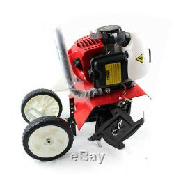 52CC 2Stroke Gas Mini Tiller Cultivator 6500rpm Plant Garden Tilling Tool C. D. I