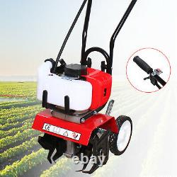 52CC 2-Stroke Gas Power Tiller Soil Cultivator Tilling Tool Garden Farm Tiller
