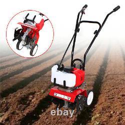 52CC 2 Stroke Mini Gas Tiller Soil Cultivator Farm Garden Tilling Tool 6500rpm