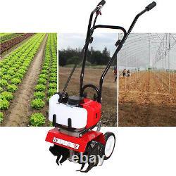 52CC 2 Stroke Mini Gas Tiller Soil Cultivator Farm Garden Yard Tilling Tool HOT