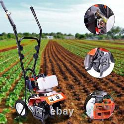 52CC 6500rpm Soil Gas Mini Tiller Cultivator Farm Plant Garden Yard Tilling. Tool