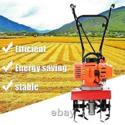 52CC 9000rpm Soil Gas Mini Tiller Cultivator Farm Plant Garden Yard Tilling Tool