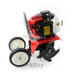 52CC Gas Garden Mini Tiller Rototiller Cultivator Yard Lawn Farm Tilling Tool US