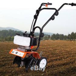 52CC Gas Power Engine Mini Tiller Cultivator Garden Yard Soil Tilling Machine