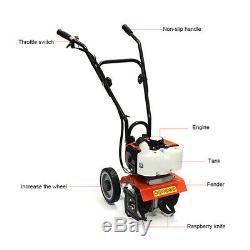 52CC Mini Gasoline Tiller Garden Law Cultivator 2 Stroke 2.5HP 1.9KW Rototiller