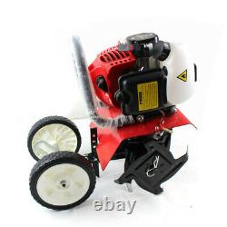 52CC Mini Tiller Cultivator 2 Stroke Petrol Power Tiller Rototiller Lawn Device