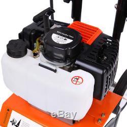 52cc 2-Stroke Mini Tiller Engine Soil Gas Cultivator Garden Farm Plant Tilling