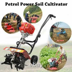 52cc 3HP MINI Petrol Powered Tiller Soil Cultivator 2-Stroke Engine Farm Tool