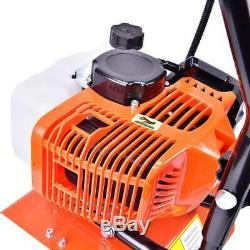 52cc 6500rpm Mini Tiller Cultivator Soil Gas Farm Plant Garden Yard Tilling Tool