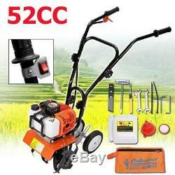 52cc Garden Farm Tiller Cultivator Gas Powered 2 Stroke 1.25kw Tilling Soil Tool