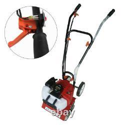 52cc Mini Tiller Cultivator Gas Powered Soild Garden Lawn Rototiller 6500rpm CDI