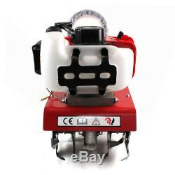 52cc Petrol Commercial Mini Garden Tiller 12Wide 2HP 2-Stroke Engine Cultivator
