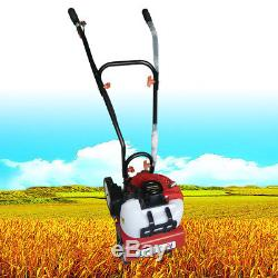 52cc Soil Gas Mini Tiller Cultivator Farm Plant Garden Yard Tilling Tool 6500rpm