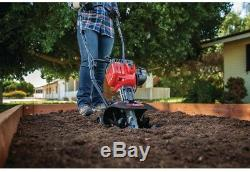 9 in. Gas Cultivator Compact 25cc 2-Cycle Engine with Four Forward-Rotating Tines